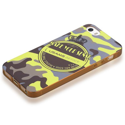 ФОТО USAMS Crown Series Soft Retro Pattern TPU Material Fluorescent Protective Back Cover Case for iPhone 5 5S