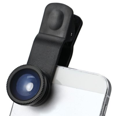 3 in 1 Clip Camera Lens including Fisheye Macro and Wide Angle