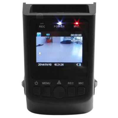 A118 1.5 inch H.264 1080P Full HD Car DVR Dash Cam 170 Degree Wide Angle Lens Video Recorder with Hidden Mode