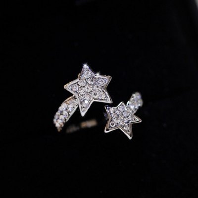 Elegant Diamante Star Pattern Cuff Ring For WomenRings<br>Elegant Diamante Star Pattern Cuff Ring For Women<br><br>Gender: For Women<br>Material: Rhinestone<br>Metal Type: Alloy<br>Style: Trendy<br>Shape/Pattern: Star<br>Diameter: 1.7CM<br>Weight: 0.05KG<br>Package Contents: 1 x Ring