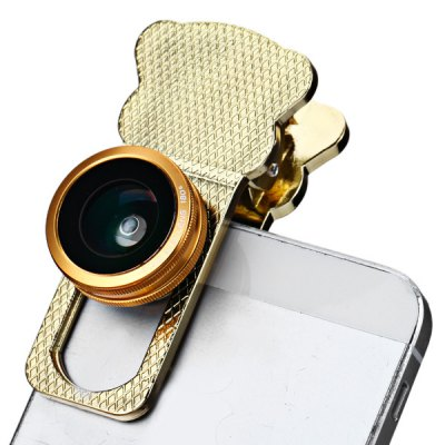 Fashionable 3 in 1 Cat Clip Camera Lens Including Fisheye Macro and Wide Angle