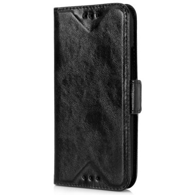 Oily Sense of Touch PC and PU Cover Case with Support and Card Holder for HTC M8 mini