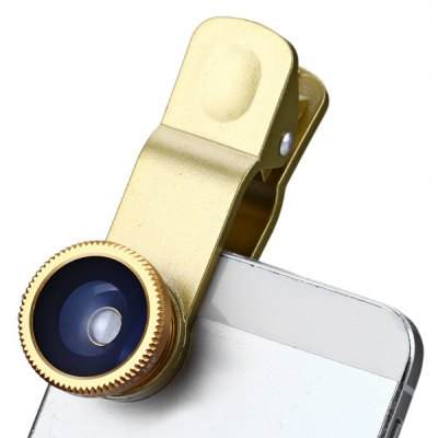 Fashionable 3 in 1 Clip Camera Lens Fisheye Macro Wide Angle