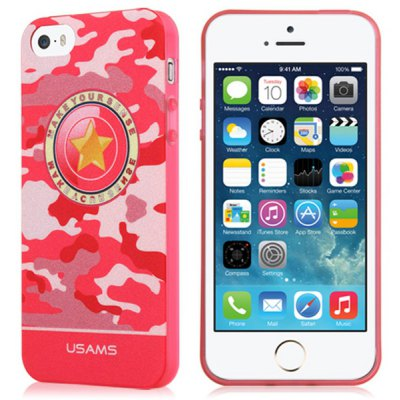 USAMS Camo Series Soft Star Pattern TPU Material Fluorescent Protective Back Cover Case for iPhone 5 5S