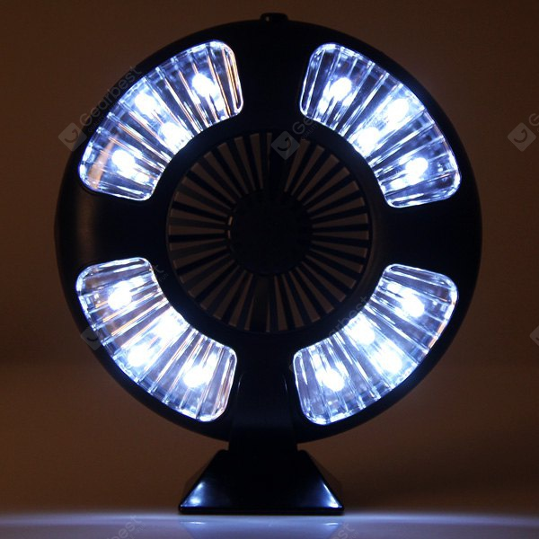 16 LED Bivouac Camping Tent Lamp Light with Fan Design