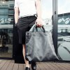 cheap Street Style Black and PU Leather Design Men's Messenger Bag