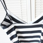 Sexy Spaghetti Strap Sleeveless Striped Low Cut Women's Crop Top for sale