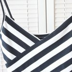 Sexy Spaghetti Strap Sleeveless Striped Low Cut Women's Crop Top deal