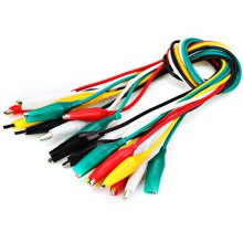 Dual - Head Crocodile Alligator Clip Test Lead Cable (10pcs 40cm)