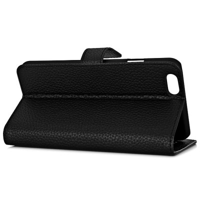 ФОТО Artificial Leather and Plastic Material Lichee Design Cover Case with Card Holder and Stand for iPhone 6