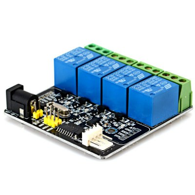 4 - Channel Relay Module Extension Board 250V 10A per Channel with Bluetooth and RF Serial PortArduino &amp; SCM Supplies<br>4 - Channel Relay Module Extension Board 250V 10A per Channel with Bluetooth and RF Serial Port<br><br>Type: Relay module borad<br>Product Weight: 0.097 kg<br>Package Weight: 0.150 kg<br>Product Size(L x W x H): 6.6 x 6.5 x 1.8 cm / 3.2 x 1.9 x 0.7 inches<br>Package Size(L x W x H): 8.0.0 x 8.0 x 3.0 cm<br>Package Contents: 1 x Module (19cm Wire)