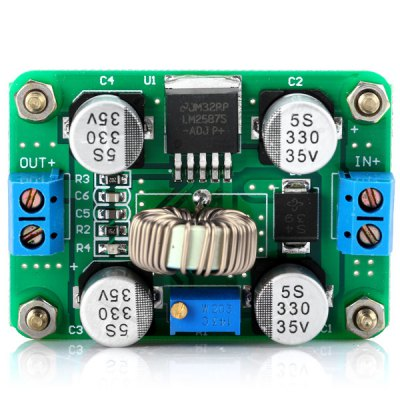 LM2587 DC 3.5  -  30V to DC 4.0  -  30V Booster Voltage Step Up ModuleBoards &amp; Shields<br>LM2587 DC 3.5  -  30V to DC 4.0  -  30V Booster Voltage Step Up Module<br><br>Model: LM2587<br>Product Weight: 0.048 kg<br>Package Weight: 0.120 kg<br>Product Size(L x W x H): 5.3 x 3.8 x 1.3 cm / 2.0 x 1.5 x 0.7 inches<br>Package Size(L x W x H): 8.0 x 6.0 x 3.0 cm<br>Package Contents: 1 x Voltage Boost Module
