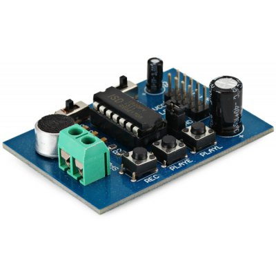 ISD1820 Sound / Voice Recording Module Supports up to Around 10 Seconds (3 ~ 5V)