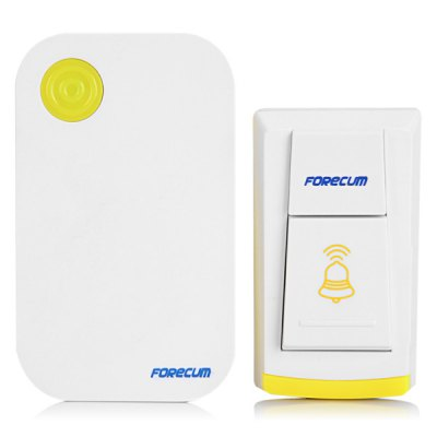 Forecum 4 Wireless Remote Control Alarm System Doorbell Kit Water Resistant Transmitter + Receiver for Home Security