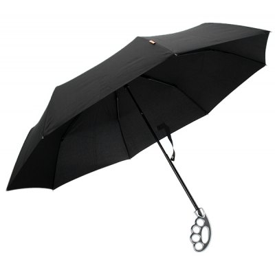 Fist Umbrella with Silver Handle Designed for Men Comfortable Size Portable and Practical