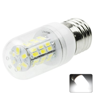 Sencart E26 42-LED 5730-SMD 8W AC 12-16V 800 - 1200LM White LED Transparent Corn Light