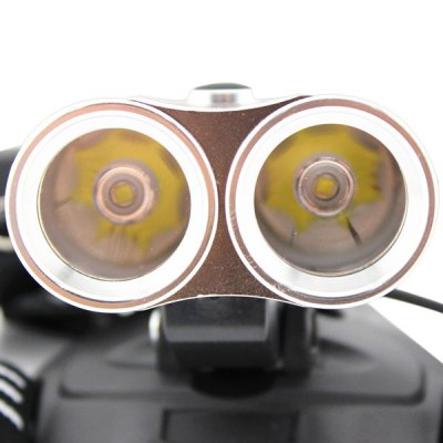 070 2400LM 2 x Cree XM - L U2 Adjustable LED Bicycle White Headlight Powered by 2 x 18650