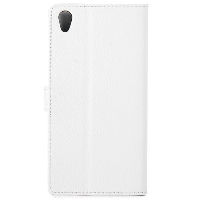 ФОТО Stylish Lichee Pattern Artificial Leather Stand Cover Case with Card Holder for Sony Xperia Z3
