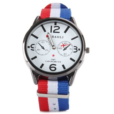 Гаджет   Jubaoli 8006 Female Quartz Watch with Round Dial Decorating Small Two Stitches and Canvas Watchband Women