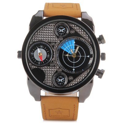 Jubaoli H - K8003 Fashional Quartz Watch with Genuine Leather Watchband and Compass Round Dial for MenMens Watches<br>Jubaoli H - K8003 Fashional Quartz Watch with Genuine Leather Watchband and Compass Round Dial for Men<br><br>Watches categories: Male table<br>Watch style: Fashion<br>Available color: Blue, Orange, Red<br>Movement type: Quartz watch<br>Shape of the dial: Round<br>Display type: Pointer<br>Case material: Stainless steel<br>Case color: Black<br>Band material: Genuine leather<br>Clasp type: Pin buckle<br>Band color: Brown<br>Special features: Decorating small two stitches, Compass<br>Water Resistance: Life water resistant<br>The dial thickness: 1.2 cm / 0.5 inch<br>The dial diameter: 5.0 cm / 2.0 inch<br>The band width: 2.2 cm / 0.9 inch<br>Product weight: 0.086 kg<br>Product size (L x W x H): 26.5 x 5.0 x 1.2 cm / 10.4 x 2.0 x 0.5 inches<br>Package Contents: 1 x Watch
