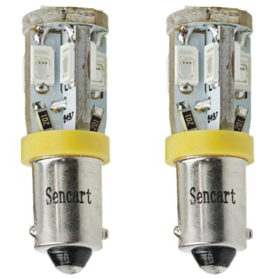 Гаджет   Sencart BAX9S 5730 10 LEDs 4W 560 - 590nm Yellow Light Car Tail Lamp DC 12  -  16V (2 pcs)