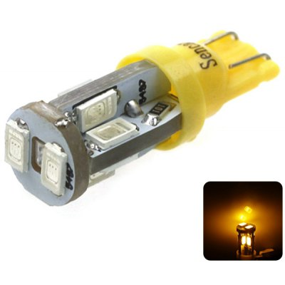 Sencart T10 5730 10 LEDs 4W 560 - 590nm Wavelength Yellow Light Car Turn Signal Lamp DC 12  -  16V