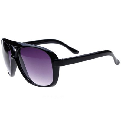 Oulaiou 9827 Retro Sunglasses with UV Prevention and Full - rim Double Beam for Men and Women