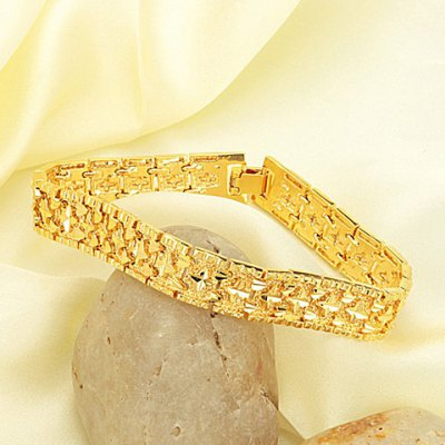 Fashion Gold Circle Bracelet For MenMens Jewelry<br>Fashion Gold Circle Bracelet For Men<br><br>Item Type: Charm Bracelet<br>Gender: For Men<br>Chain Type: Link Chain<br>Metal Type: Lead-tin Alloy<br>Style: Trendy<br>Shape/Pattern: Round<br>Length: 20.5CM<br>Weight: 0.130KG<br>Package Contents: 1 x Bracelet