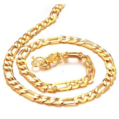 Link Gold Necklace For Men