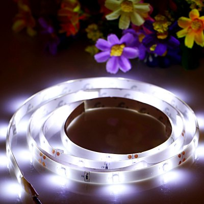 1M 30 x SMD - 3528 LED 6000K Flexible Decorative Strip Light with White Board DC - 12V