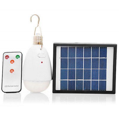 2W 22-LED Solar Light with Mobile USB Charger
