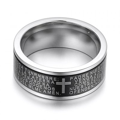 Гаджет   Fashion Cross Letter Pattern Decorated Round Ring For Men Men
