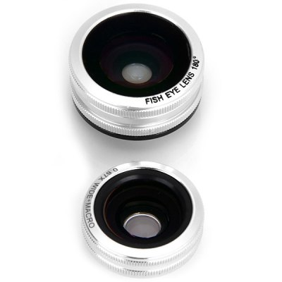 Fashionable 3 in 1 Ring Shape Universal Camera Fisheye Lens for iPhone iPad Samsung and Most of Smart Phone