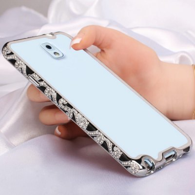 Гаджет   Gorgeous Metal Frame with Full - body Diamond and Inner Silicon Layer  for Samsung Galaxy Note 3 N900 Samsung Cases/Covers