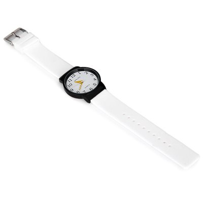 Гаджет   ZH1109 Rubber Band Unisex Pointer Quartz Watch with Water Resistant Pin Buckle and Round Dial Women