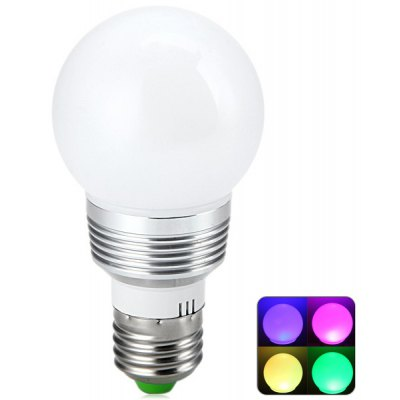 E27 3W Color Changing RGB LED Globe Bulb with Remote Control  –  85  –  265V en Gearbest