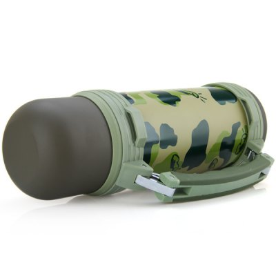Practical Bullet Shape Camouflage Bottle for Outdoor Activities  -  1.2L