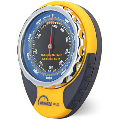 Altimeter - Barometer / Compass / Thermometer / Carabiner Clip for Mountain - climbing and Camping