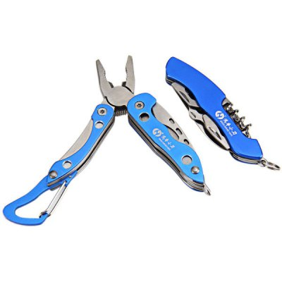Portable Outdoor Multi - function Survival Tool with Multi - purpose Knife and Plier