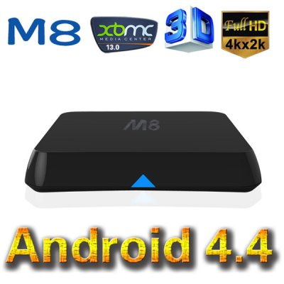 M8 Amlogic S802 Quad Core Bluetooth Android 4.4 2.0GHz Nand Flash TV Box Support 4K x 2K