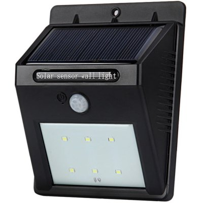 White LED Solar Power Wall Light Infrared Induction Lamp with PIR Motion Sensor and Night Sensor for Home Office