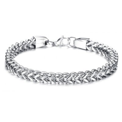 Solid Color Link Chain Bracelet For Men