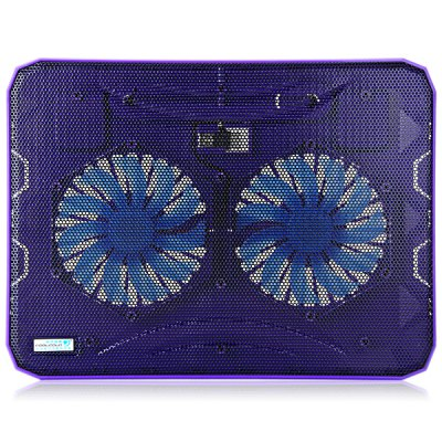 CoolCold K19 USB 2.0 Ultrathin Luminous Two Fans Notebook Cooling Fan with USB Power Supply for 14 / 15.6 / 17 Inch LaptopsUSB Accessories<br>CoolCold K19 USB 2.0 Ultrathin Luminous Two Fans Notebook Cooling Fan with USB Power Supply for 14 / 15.6 / 17 Inch Laptops<br><br>Type: Cooling Fan<br>Connection: USB<br>Rated Voltage: 5V DC<br>Rated Current: 0.35A<br>Color: Purple<br>Product Weight: 0.574 kg<br>Package Weight: 0.621 kg<br>Product Size (L x W x H): 36.0 x 27.0 x 2.1 cm / 14.2 x 10.6 x 0.8 inches<br>Package Size (L x W x H) : 38.0 x 28.0 x 3.1 cm<br>Package Contents: 1 x Cooling Fan
