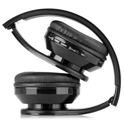AIAT AT - BT809 Foldable Hands Free Headset Music Headphone with Mic FM Radio Support TF CardOn-ear &amp; Over-ear Headphones<br>AIAT AT - BT809 Foldable Hands Free Headset Music Headphone with Mic FM Radio Support TF Card<br><br>Brand: AIAT<br>Model  : AT-BT809<br>Color : Black, White, Red, Green<br>Wearing type : Headband<br>Function : FM function, Answering phone, Bluetooth, Song switching, Noise Cancelling, Multi connection function, Microphone, Voice control<br>Connectivity : Wireless<br>Connecting interface : Micro USB, 3.5mm<br>Application : Portable Media Player, Mobile Phone, Computer<br>Plug Type: Full-sized<br>Frequency response : 20~20KHz<br>Sensitivity : 70 dB<br>Power supply: Built-in rechargeable battery<br>Working time: About 4 hours<br>Standby time: 180 hours<br>Bluetooth: Yes<br>Bluetooth version: V4.1<br>Powlev: CLASS II<br>Bluetooth distance: W/O obstacles 10m<br>Bluetooth band: 2.4GHz-2.4835GHz<br>External memory: TF card<br>Max. of External memory: 16GB<br>Product weight  : 0.151 kg<br>Package weight  : 0.320 kg<br>Package size (L x W x H) : 25.0 x 18.0 x 5.0 cm<br>Package contents: 1 x Earphone, 1 x Audio Cable, 1 x USB Cable