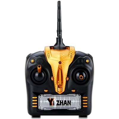 Yizhan X4 New Design 4 Channel 6 Axis Gyro 2.4GHz Quadcopter with 3D Flip Flying Function - YizhanRC Quadcopters<br>Yizhan X4 New Design 4 Channel 6 Axis Gyro 2.4GHz Quadcopter with 3D Flip Flying Function<br><br>Brand: YIZHAN<br>Type: RC Simulators<br>Features: Radio Control<br>Functions: Turn left/right, 360 degrees spin, With light, Sideward flight, Up/down, Forward/backward<br>Age: Above 14 years old<br>Built-in Gyro: Yes<br>Night Flight: Yes<br>Material: Plastic, Electronic components<br>Remote Control: 2.4GHz Wireless Remote Control<br>Channel: 4-Channels<br>Mode: Mode 2 (Left Hand Throttle)<br>Control Distance: 25~30m<br>Transmitter Power: 6 x 1.5V AA battery(not included)<br>Model Power: Built-in rechargeable battery<br>Charging Time: 60~70mins<br>Flying Time: 6~7mins<br>Product Weight   : 0.033 kg<br>Package Weight   : 0.497 kg<br>Product Size (L x W x H)   : 14.3 x 13.2 x 2 cm / 5.6 x 5.2 x 0.8 inches<br>Package Size (L x W x H) : 35.8 x 20 x 7.8 cm<br>Package Contents: 1 x Aircraft, 1 x Transmitter, 1 x USB Charger, 4 x Blade, 1 x Screwdriver, 1 x Manual