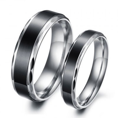 ONE PIECE Chic Round Shape Smooth Surface Lover Couple Ring