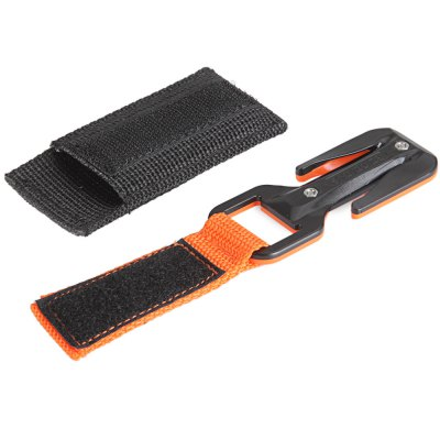 EZDIVE KF - SZ Inner Blade Design Scuba Diving Knife Swift Z Two Sides Line Cutter with Harness Pouch