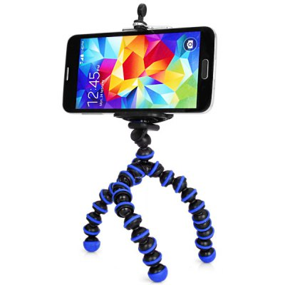 Flexible Tripod Octopus Stand and Mount Adapter Telescopic Cell Phone Clip Holder