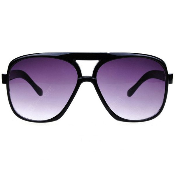 Image For Oulaiou 9827 Retro Sunglasses with UV Prevention and Full - rim Double Beam for Men and Women