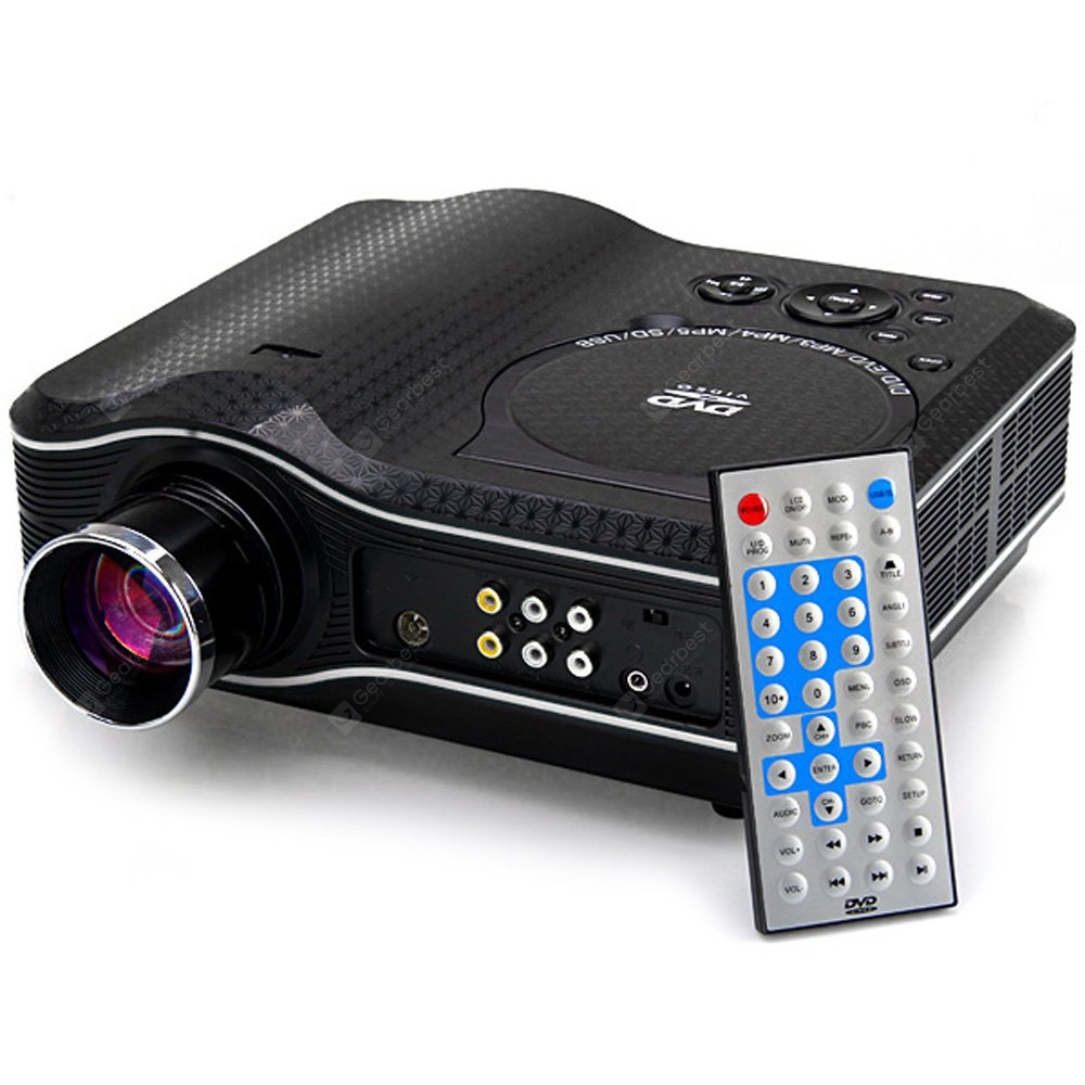 Image For KSD - 388 LED Multimedia Projector with DVD Player  -  80 Lumens 800 x 600 Pixels 100:1 Contrast Ratio